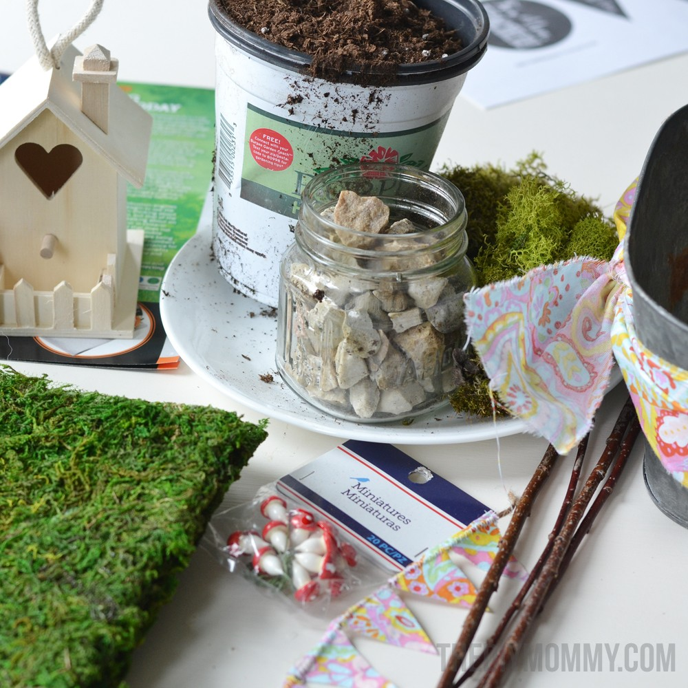 How to make mini fairy garden gifts for Mother's Day, teachers, or friends!