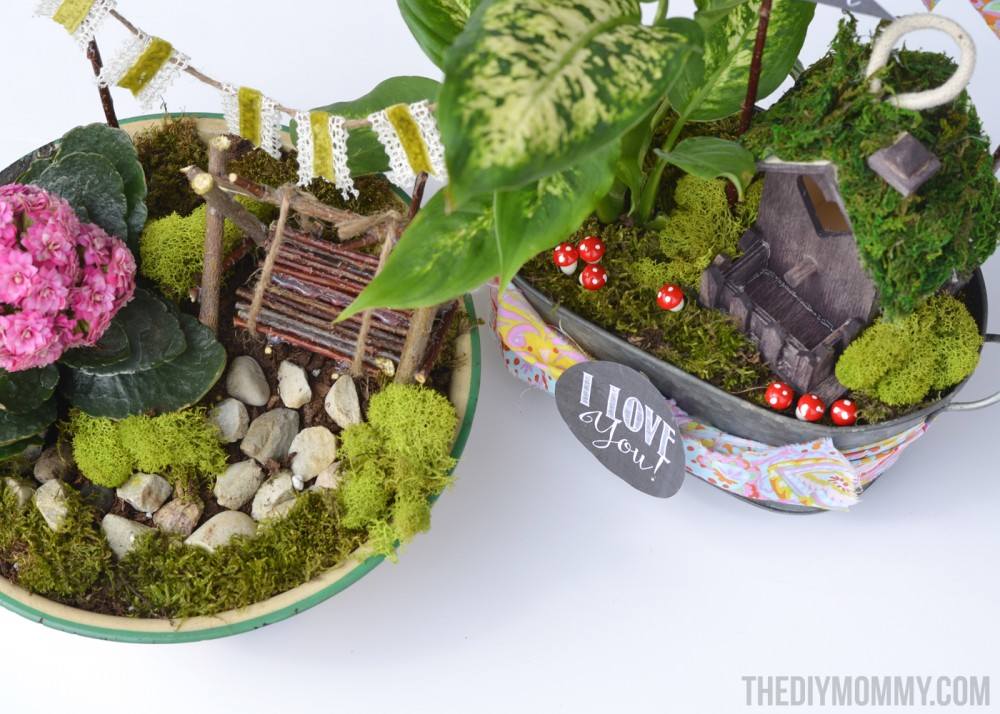 How To Make Mini Fairy Garden Gifts For Mother S Day Teachers Or Friends