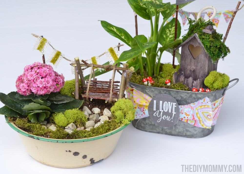 Mini Fairy Garden in a Tin Gift Handmade Mothers Day Gift Ideas