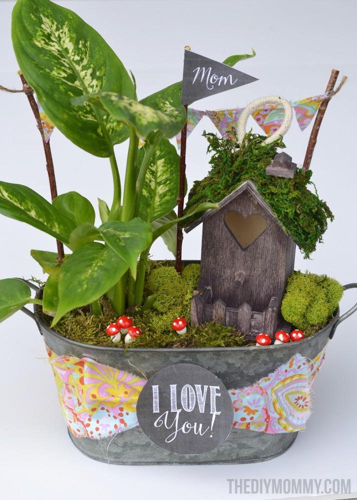 Mini Fairy Garden In A Tin Gift Handmade Mother S Day
