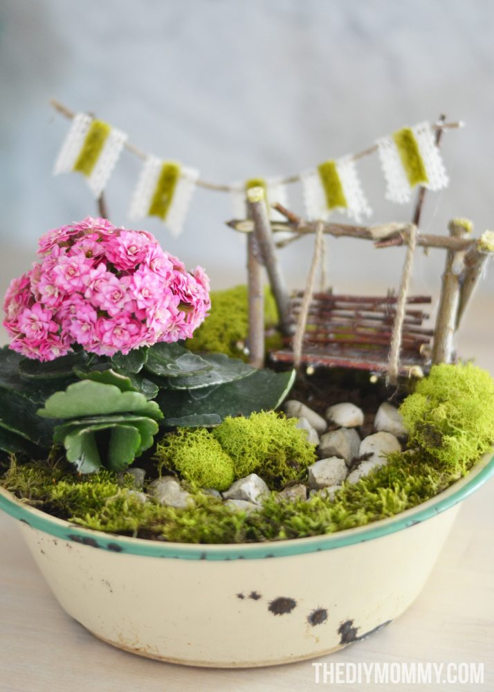Mini Fairy Garden in a Tin Gift + Handmade Mother's Day Gift Ideas ...