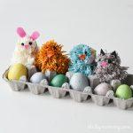 How to make pom poms + a silly Spring pom-pom animal kid's craft