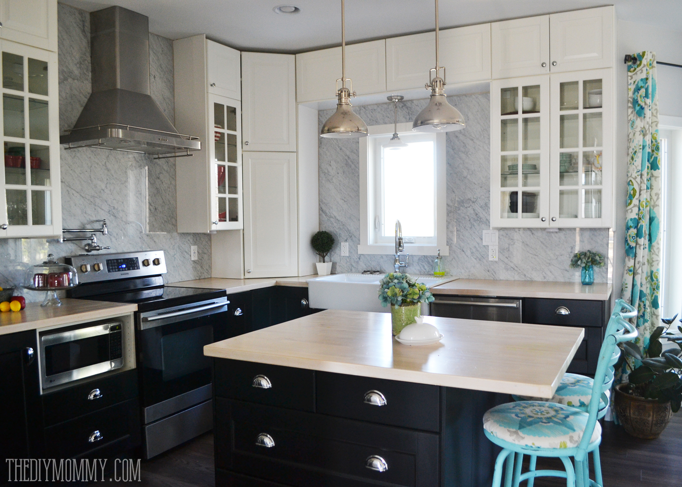 A Marble Panel Backsplash For Our Diy Kitchen The Diy Mommy