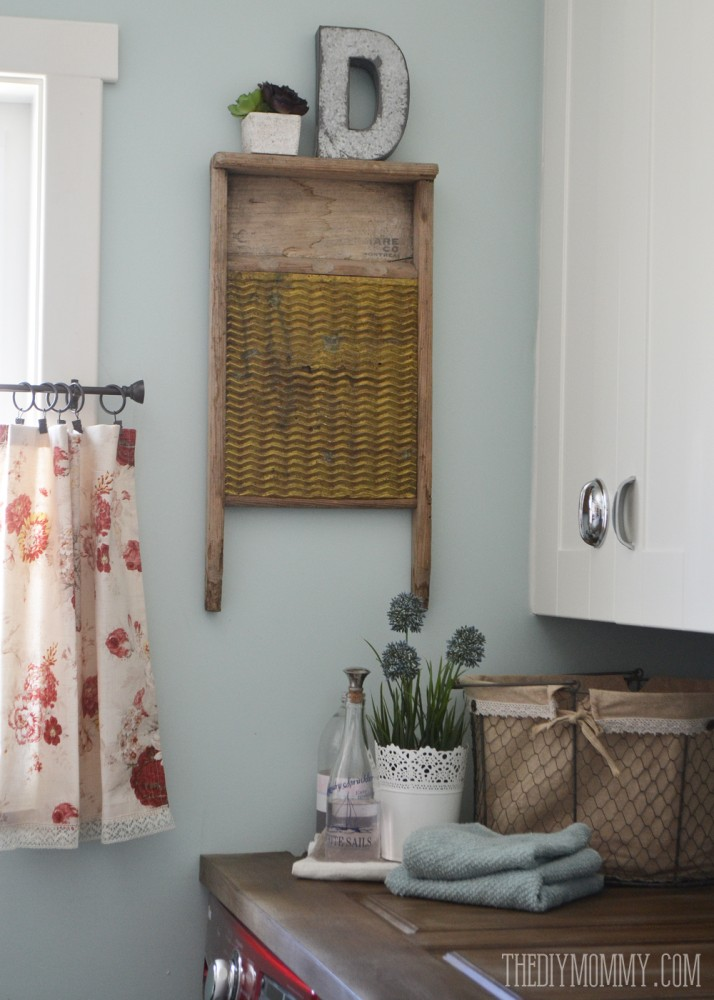 A Vintage Inspired Red Amp Aqua Laundry Room Video Tour