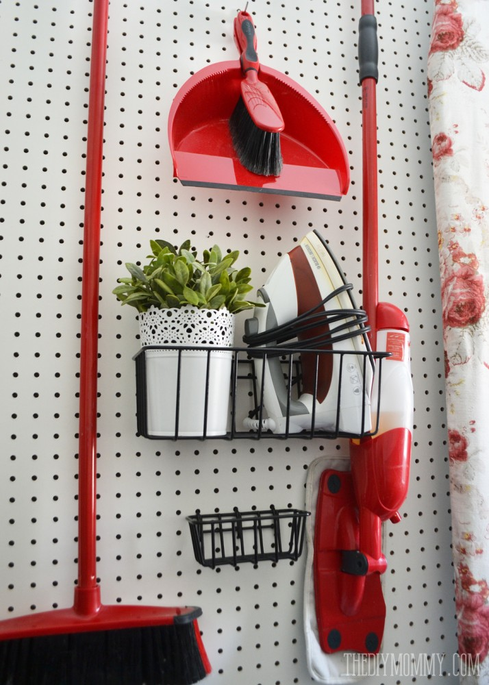 A Vintage Inspired Red Aqua Laundry Room Video Tour The Diy Mommy