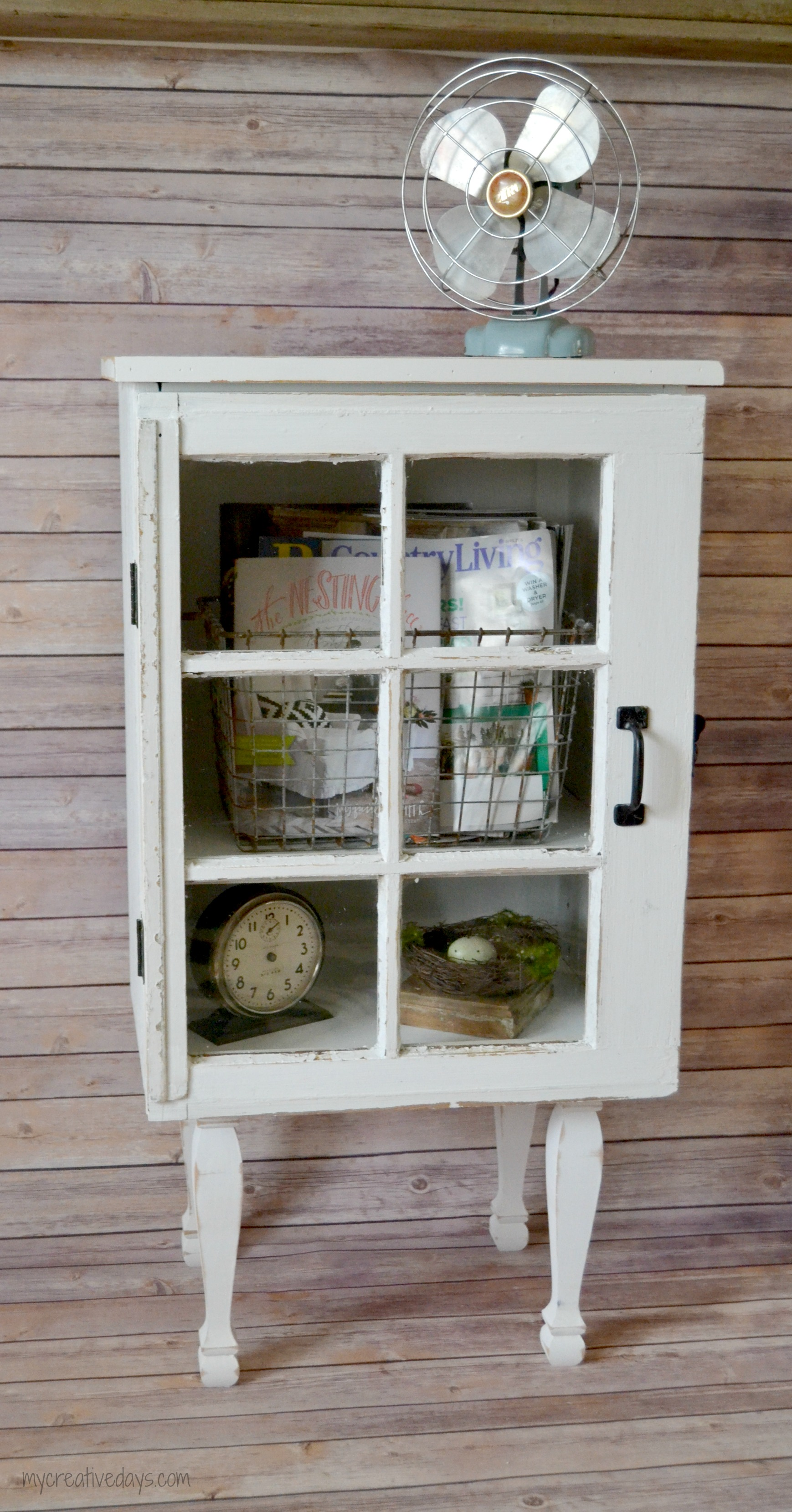 DIY Old Window Cabinet