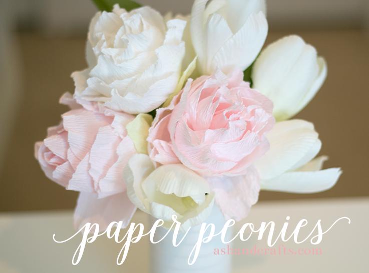 Paper peonies tutorial