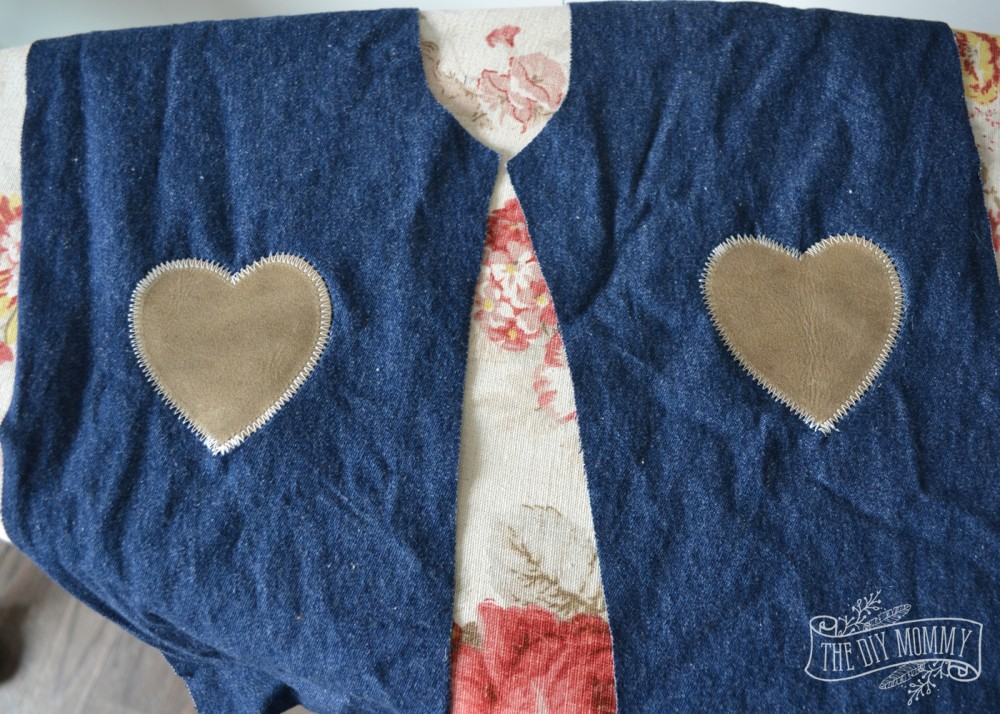 How to sew DIY baby crawler jeans with cute leather knee patches - tutorial.