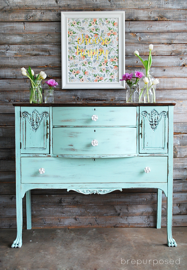 Chalky Finish Mint and Floral Buffet + Motivational Monday #49: Craft, DIY &a...