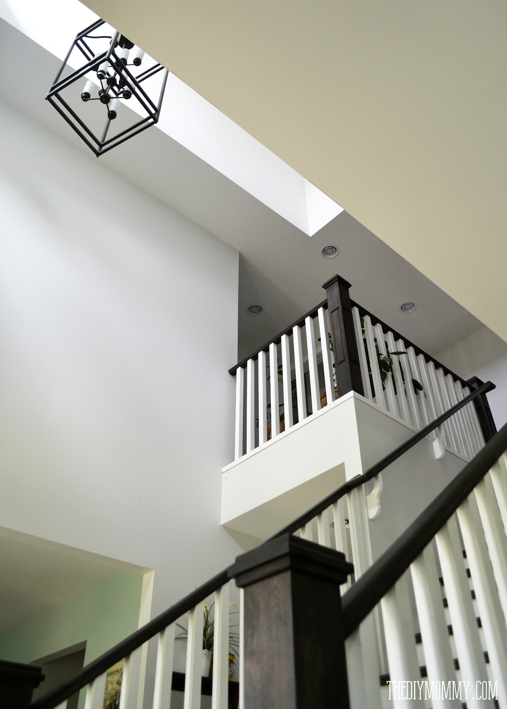 Craftsman Black and White Staircase
