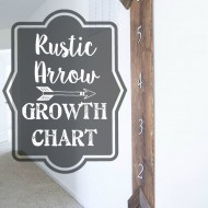 DIY Rustic Arrow Growth Chart + Motivational Monday #52: Craft, DIY & Home Decor Link Party
