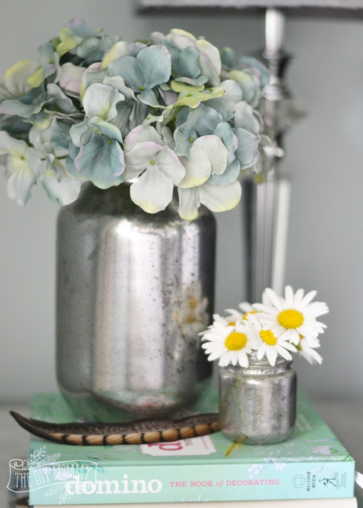 make faux mercury glass vases from recycled jars the diy. Black Bedroom Furniture Sets. Home Design Ideas