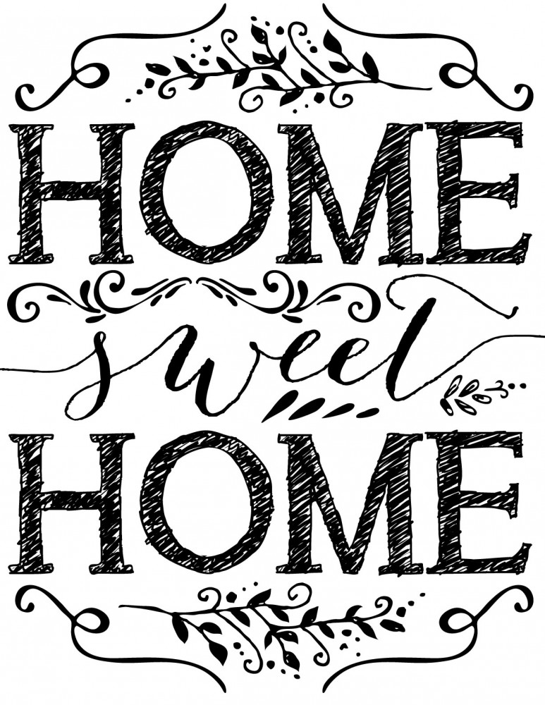 This is a graphic of Inventive Home Sweet Home Printable