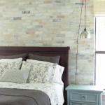 Realistic stenciled brick wall