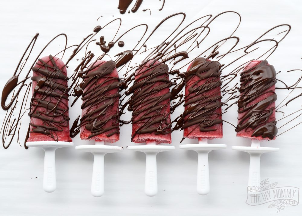 Strawberry Chocolate Fondue Popsicle Recipe
