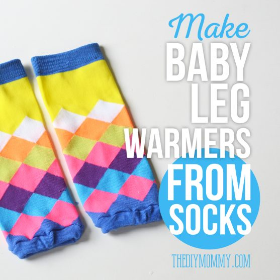 How to make baby leg warmers from knee high socks - a video tutorial.