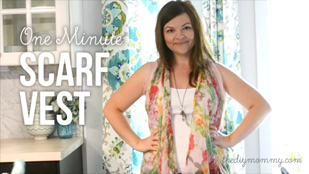 How to make a drapey kimono vest from a scarf - video tutorial