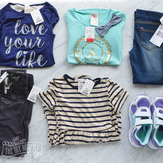 How to survive back to school clothes shopping + a cute French inspired kid's wardrobe from Marshalls Canada