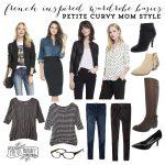 French Inspired Wardrobe Basics: Petite Curvy Mom Style