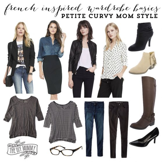French Inspired Wardrobe Basics: Petite Curvy Mom Style