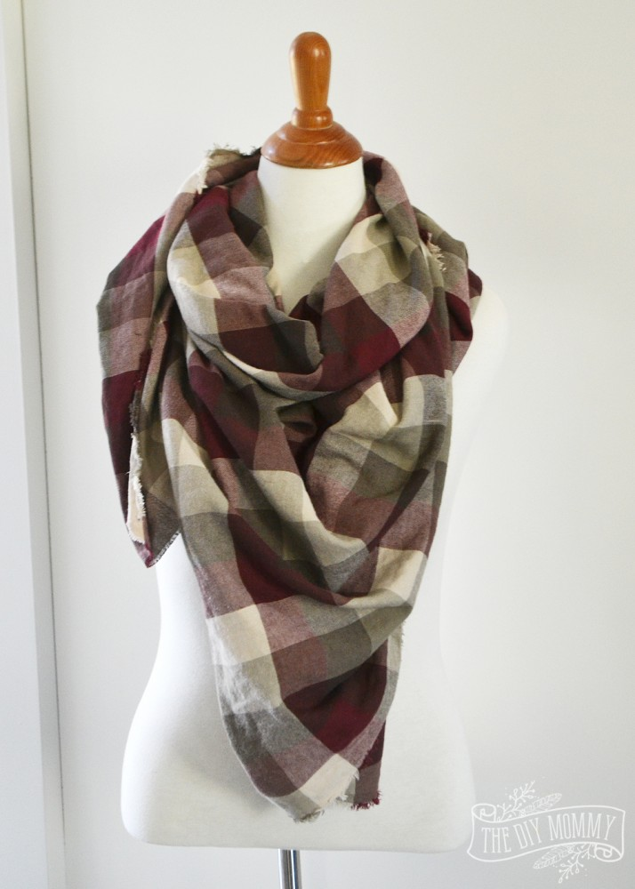 How to make a new-sew blanket scarf: DIY video tutorial