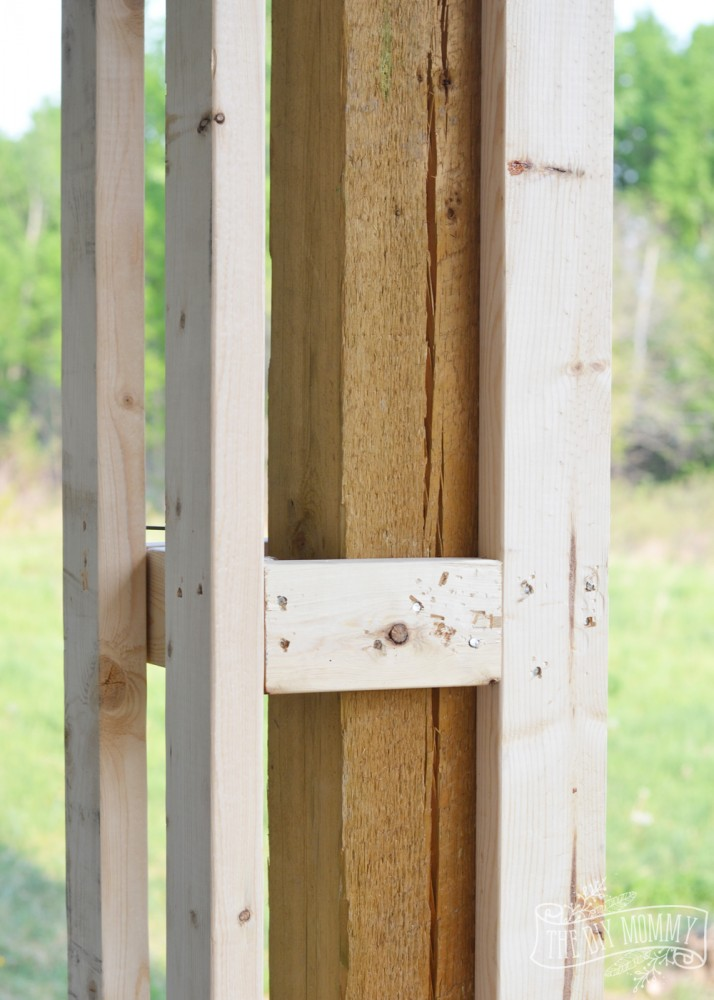 Simple Wood Column : Diy porch columns working on the curb appeal of our