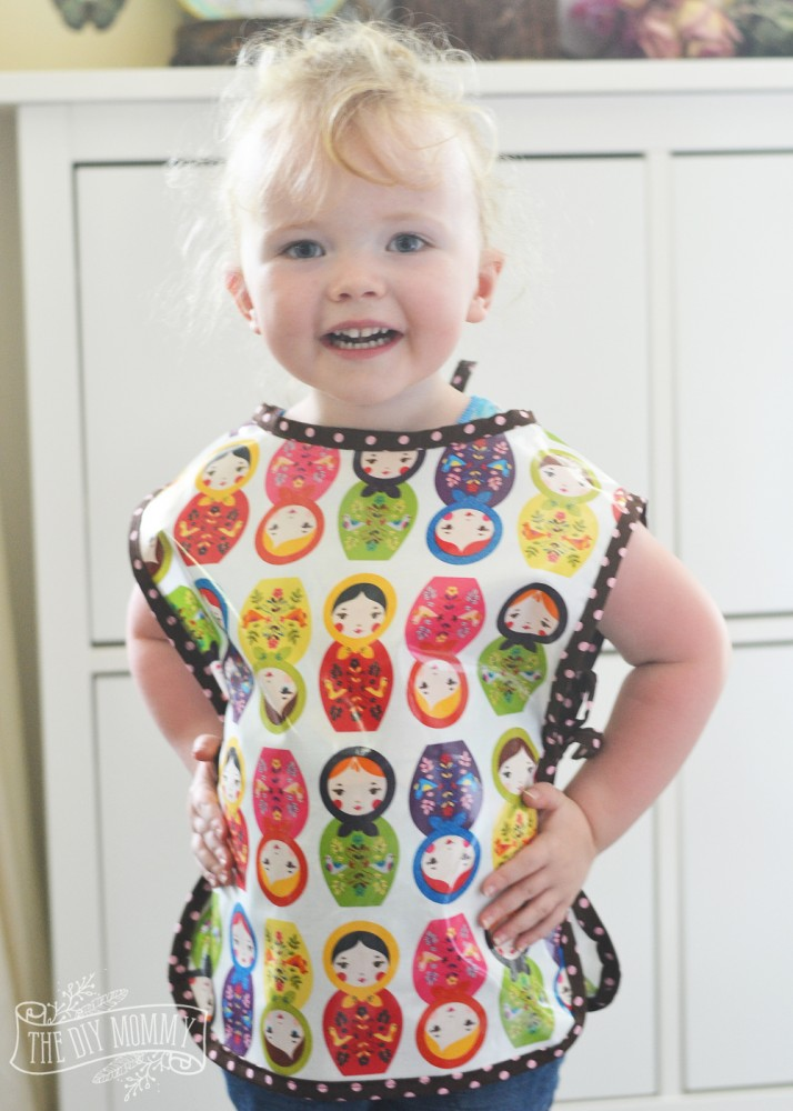 How To Sew A Preschool Art Smock Free Pattern And Tutorial