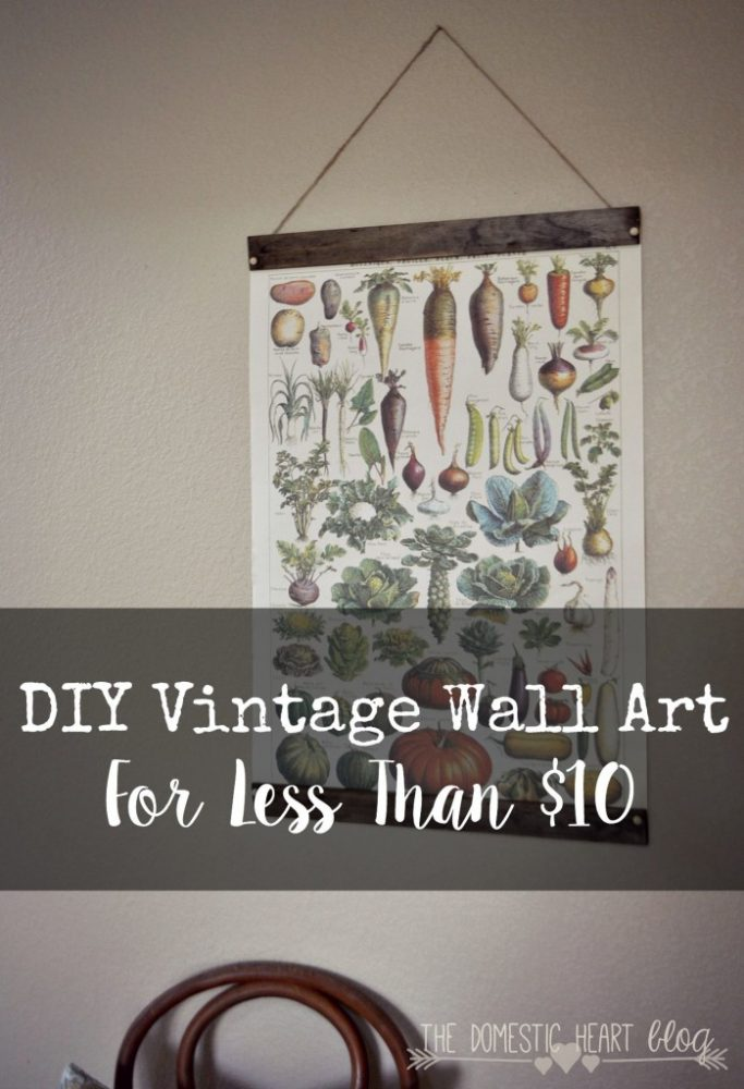 Vintage Wall Art for less than $10!