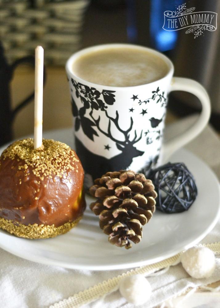 Caramel apple, woodland coffee mug