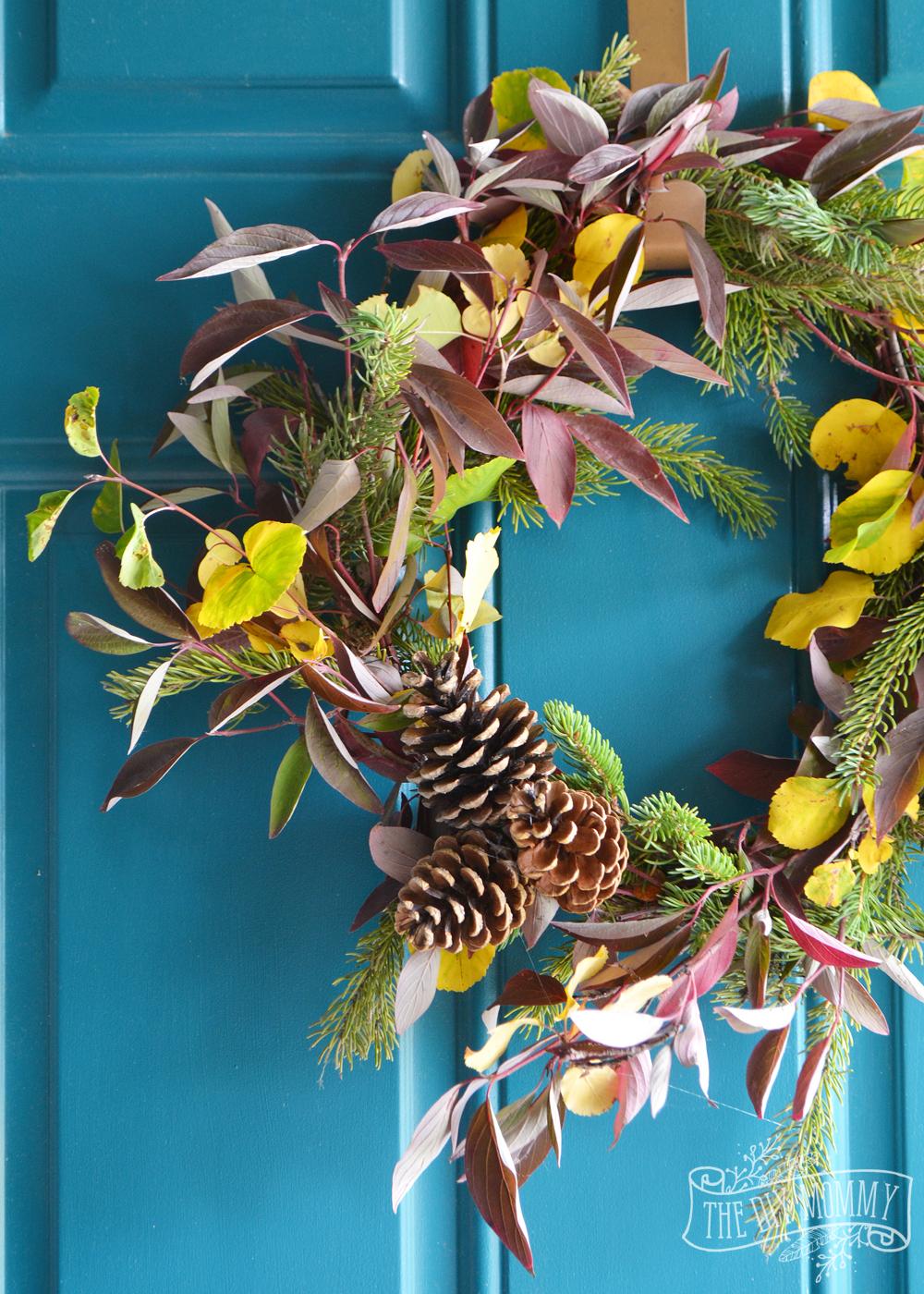 Diy Foraged Fall Wreath 13 More Wreath Ideas The Diy Mommy