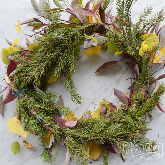 Diy Foraged Fall Wreath 13 More Wreath Ideas The Diy Mommy
