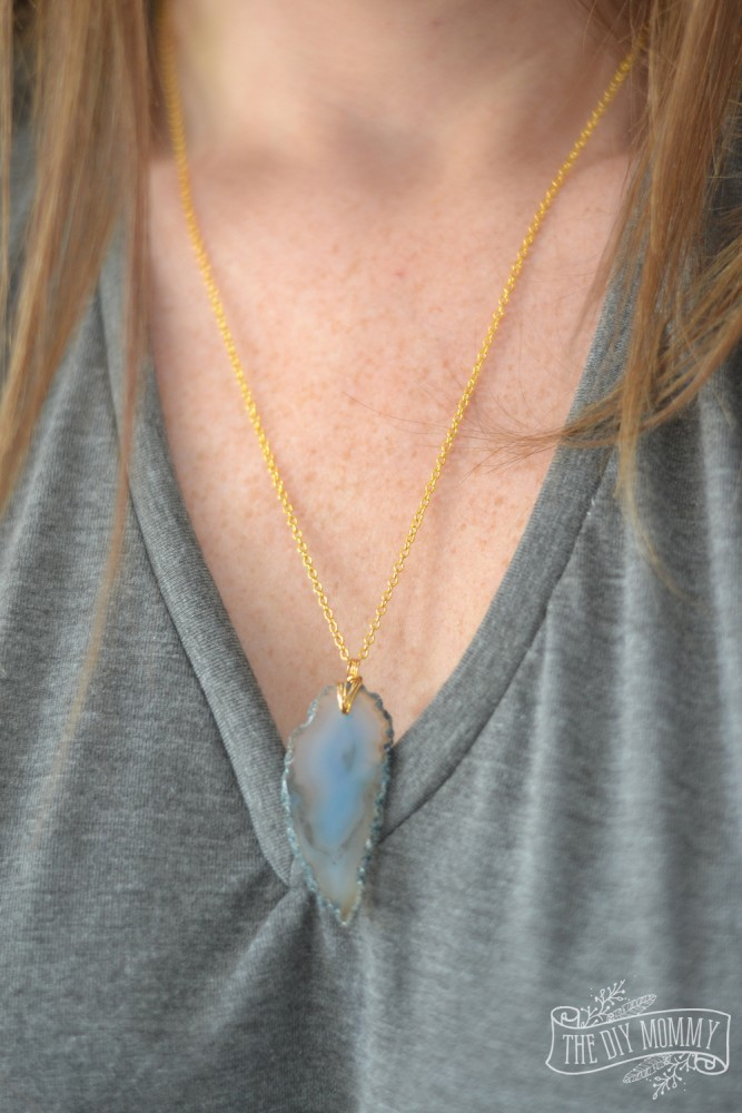 Elle Bliss Jewelry Agate Slice Pendant