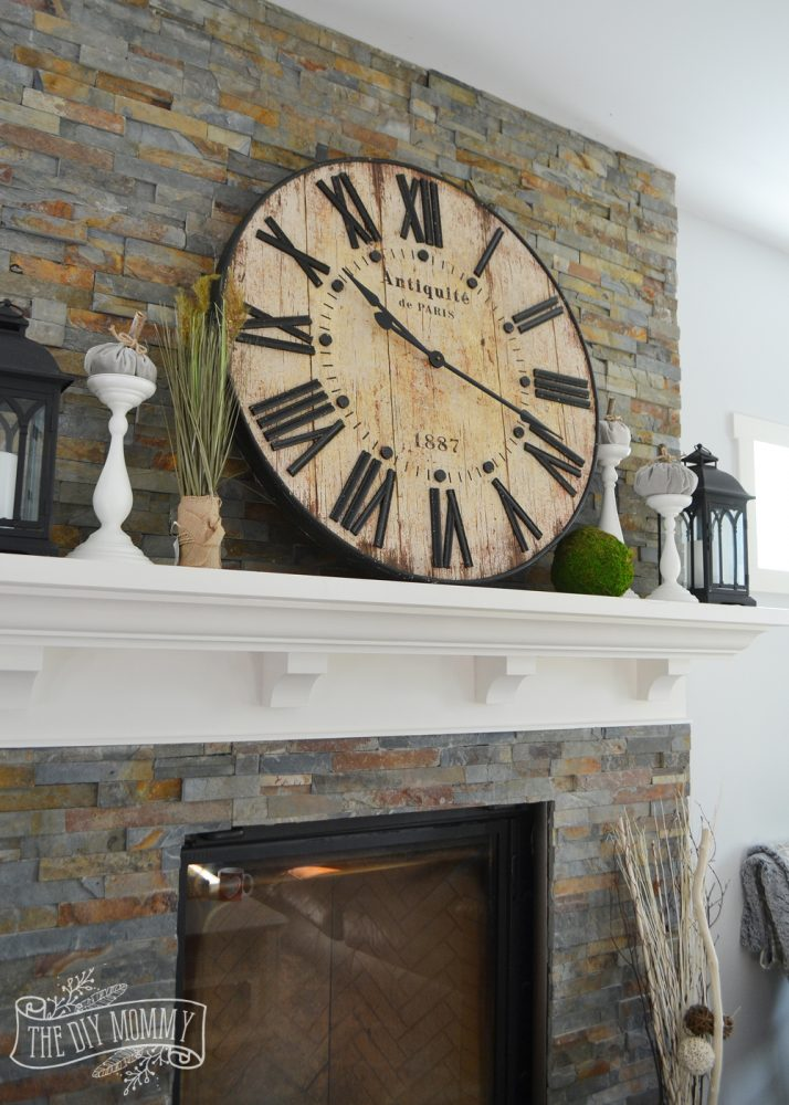 Our Vintage Industrial Fall Mantel The Diy Mommy
