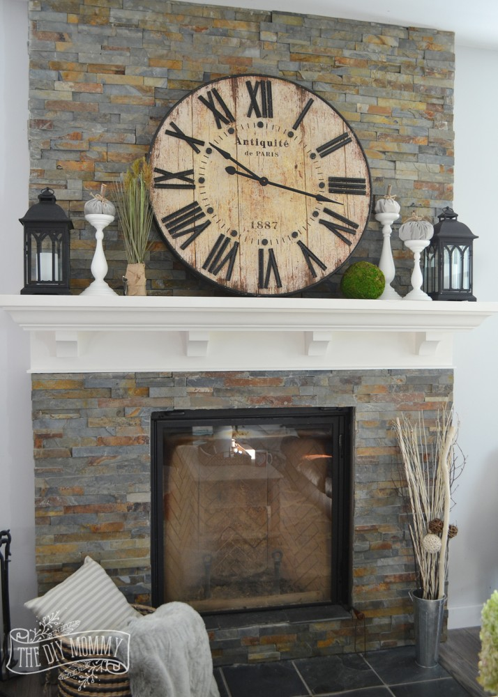 Vintage rustic mantel decor