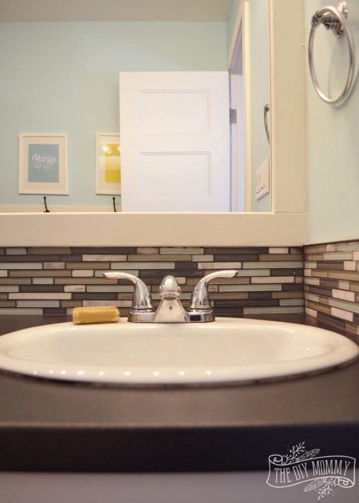 How to install tile around a bathroom sink round designs for Bathroom design and installation
