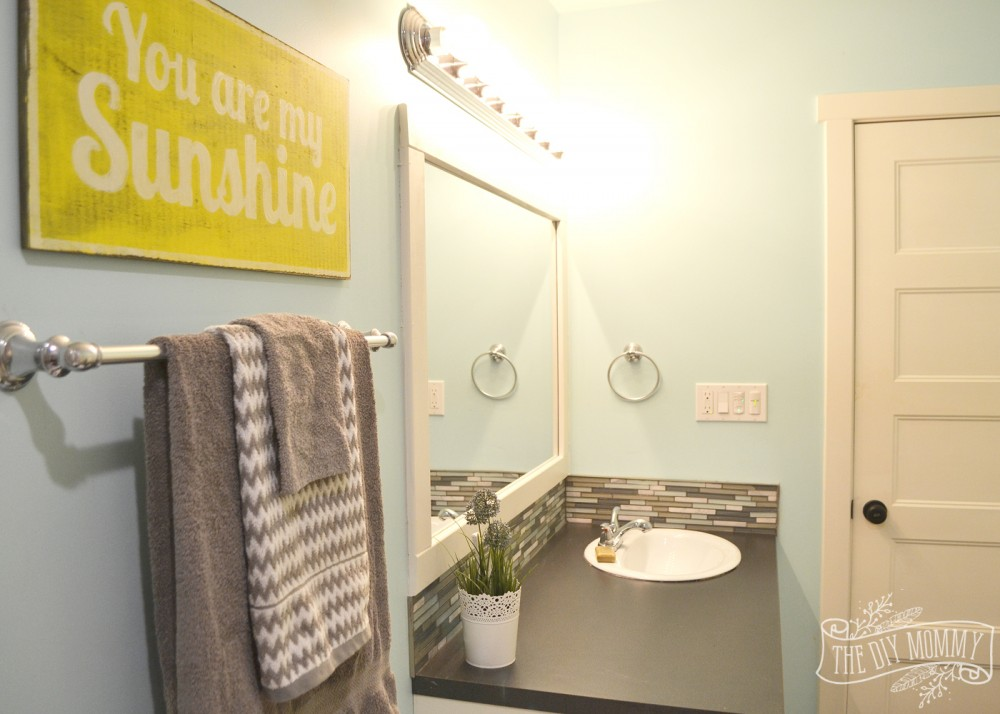 Aqua yellow and grey bathroom sets for Yellow and gray bathroom sets
