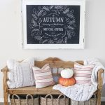 Beautiful Fall chalkboard idea
