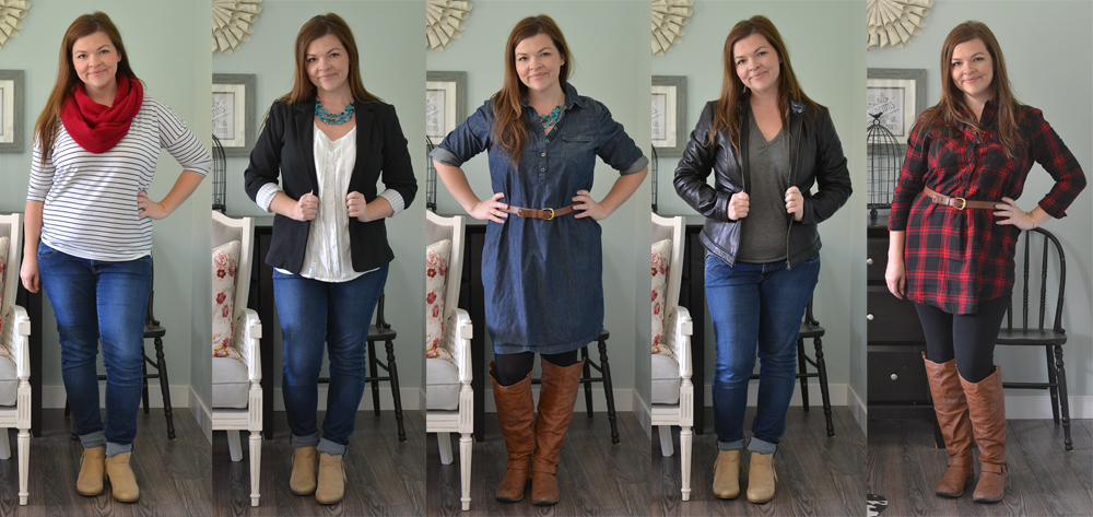 Comfy Fall Outfit Ideas #petitecurvymomstyle