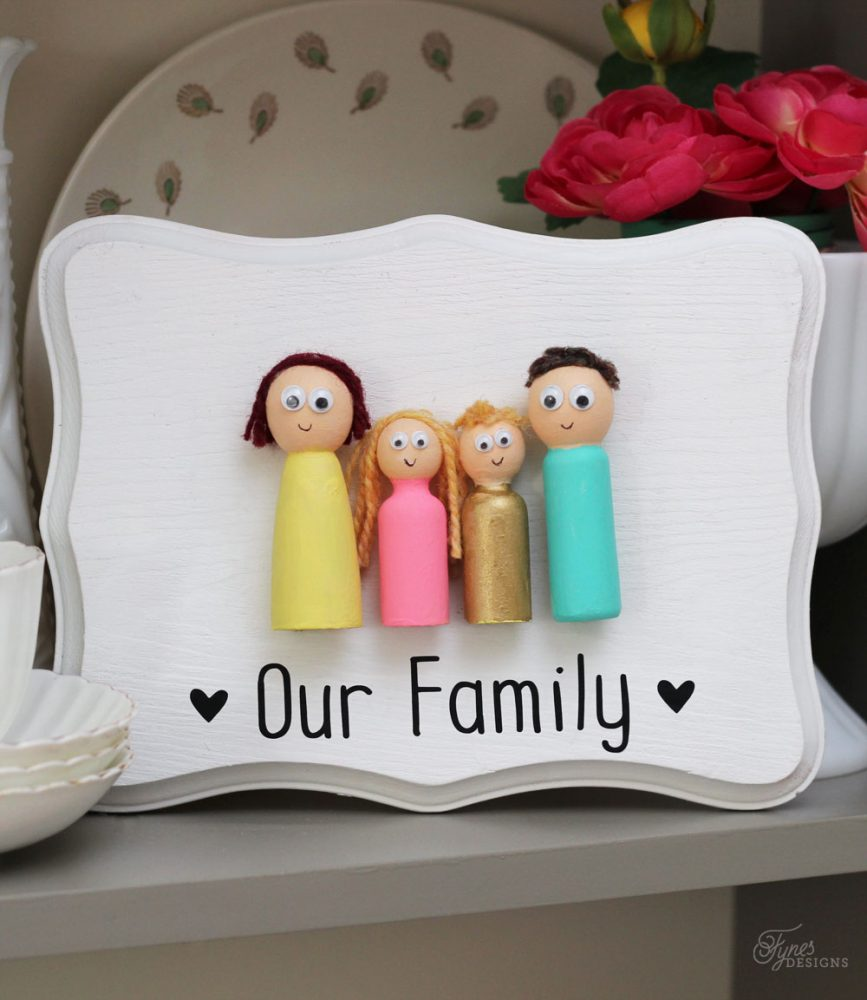 Peg Doll Family Kids Craft The Creative Corner 70 DIY Craft Home