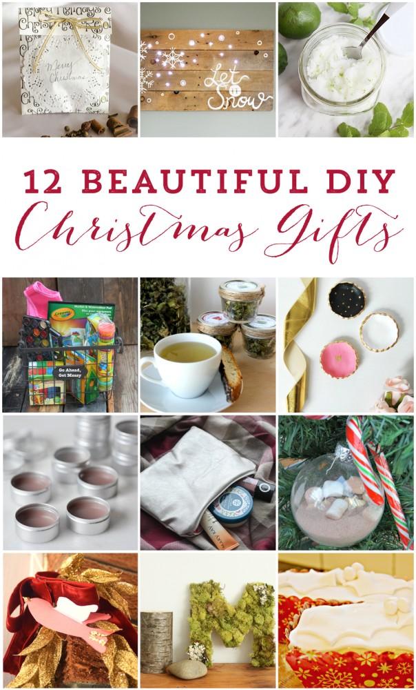 12 beautiful DIY Christmas gift ideas!