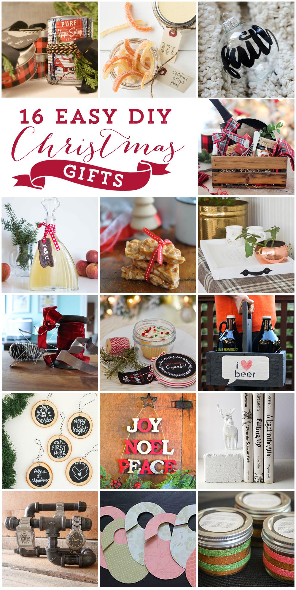 16 Easy & Beautiful DIY Christmas Gifts to Make