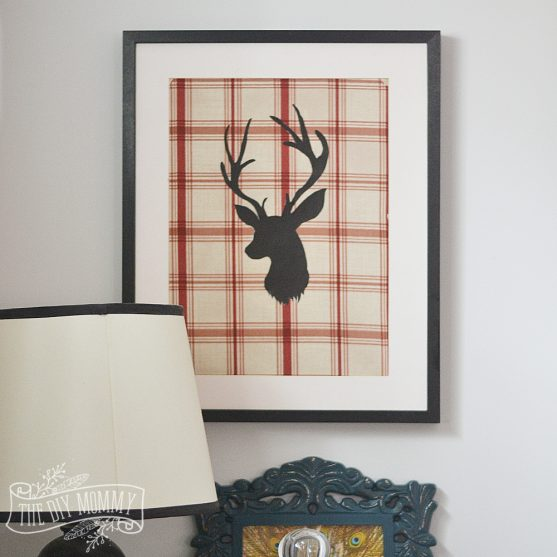 Easy DIY deer art (video tutorial) - no fancy materials or machines required to make this one!