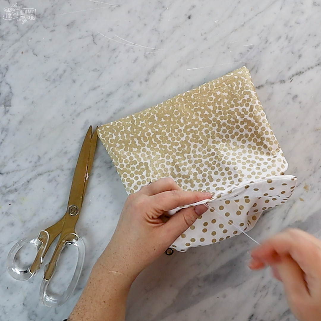 Learn how to sew a DIY zippered and lined pouch. It's an easy sewing project and makes a great gift!