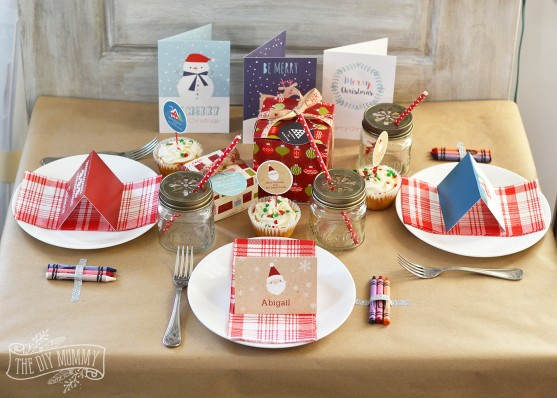 A Fun Kids Christmas Table Setting Idea (+ Win A Holiday Party Pack ...