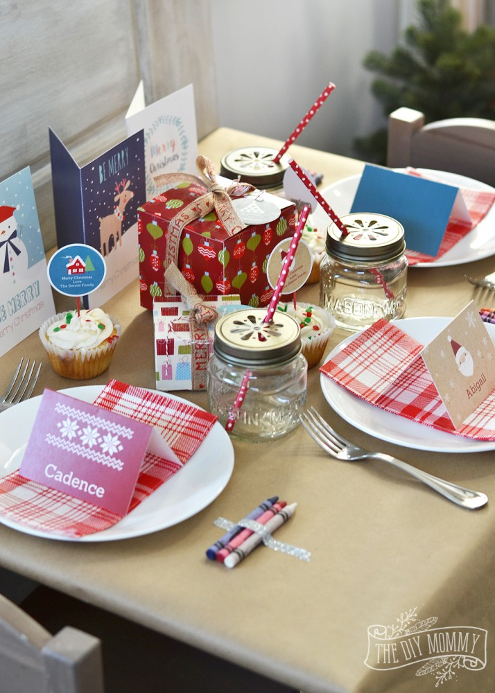 A Fun Kids Christmas Table Setting Idea Win Holiday