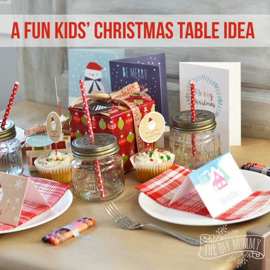 A Fun Kids Christmas Table Setting - there are some great ideas here featuring Stuck on & A Fun Kids Christmas Table Setting Idea (+ Win A Holiday Party Pack ...