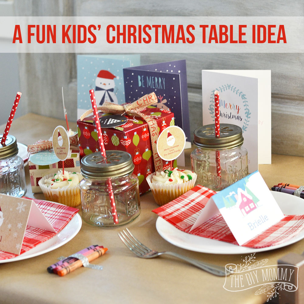 Fun Christmas Table Decorations: A Fun Kids Christmas Table Setting Idea (+ Win A Holiday
