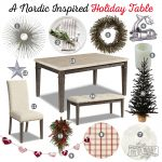 Mood Board: Nordic inspired Holiday table idea featuring furniture from The Brick