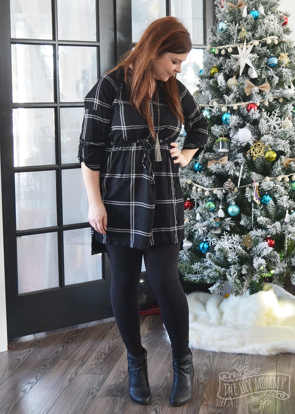 Silver Icing Midnight Tracks Tunic, Christina Necklace and Bottoms Up Leggings
