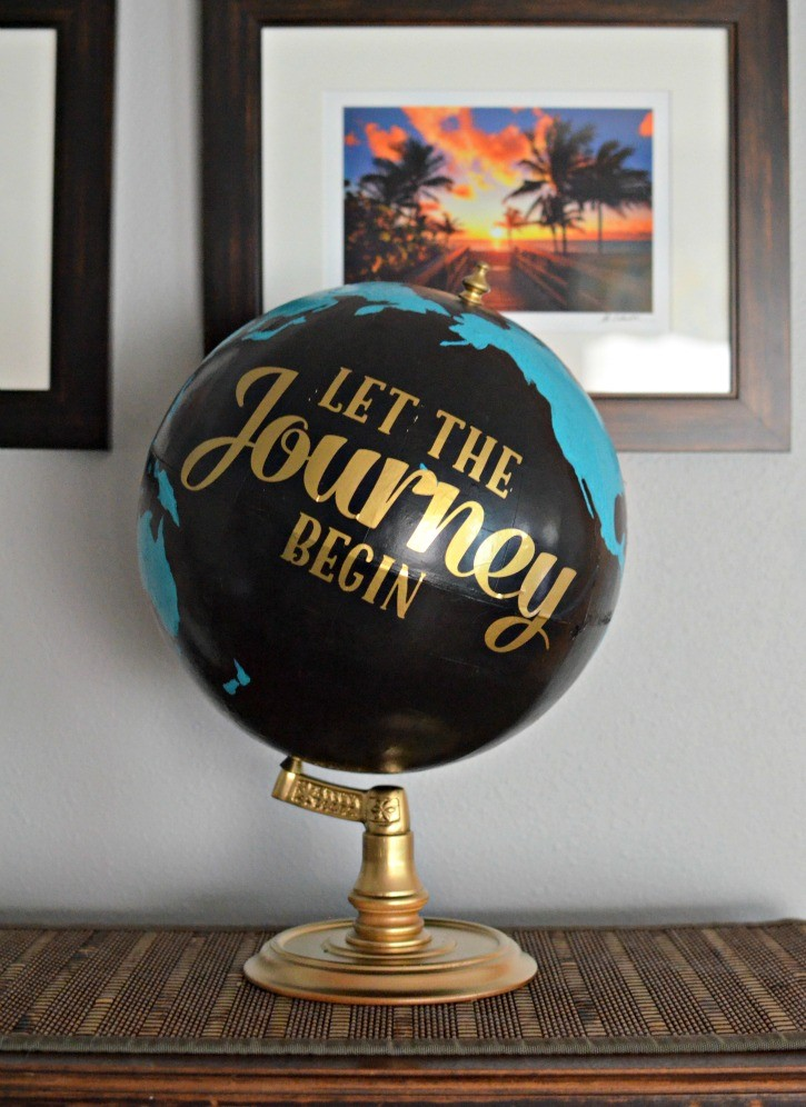 Upcycled and Painted Globe